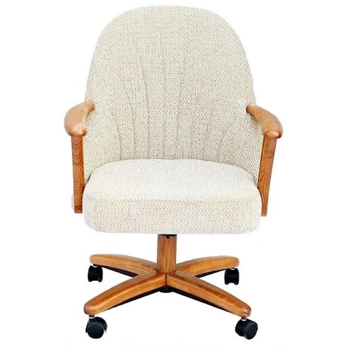 Chromcraft Custom Dining Dining Chair with Casters and Memory Foam