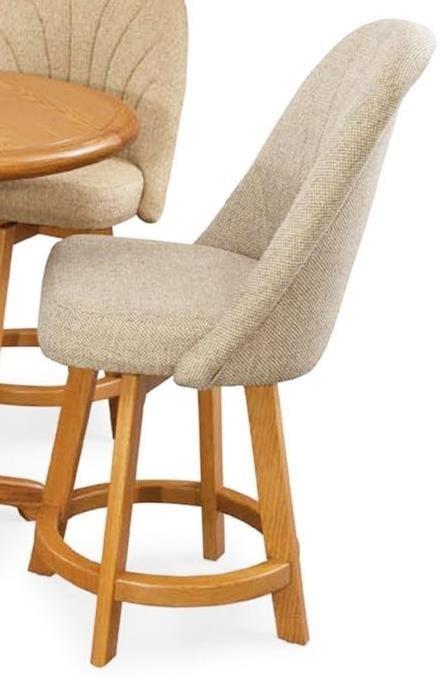 Chromcraft Custom Dining Counter Height Bar Stool with Full Back