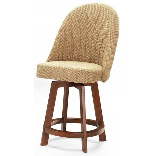 Chromcraft Custom Dining Counter Height Bar Stool with Full Back