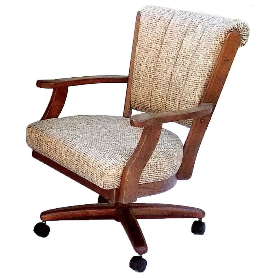 Custom Dining Chairs chromcraft custom dining dining chair with casters and memory foam