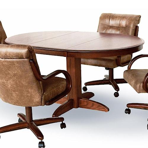 Chromcraft Custom Dining Solid Ash Oval Pedestal Table