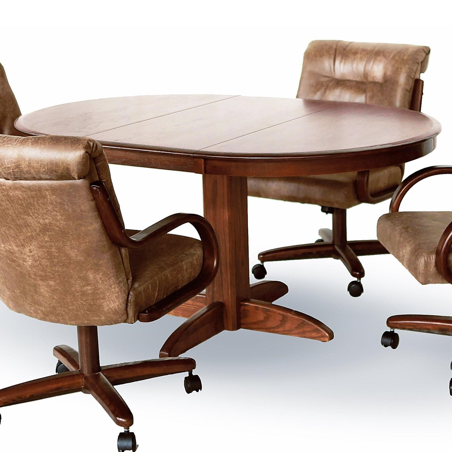 Chromcraft Custom DiningSolid Ash Oval Pedestal Table ...