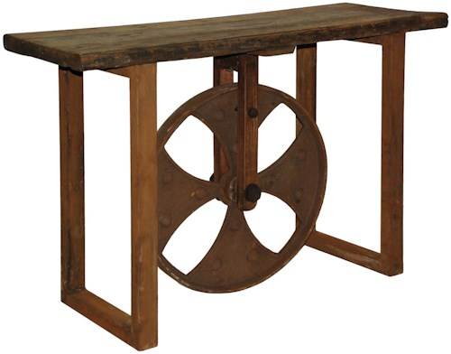 Classic Home 51003 Reclaimed Elm Sofa Table with Wheel