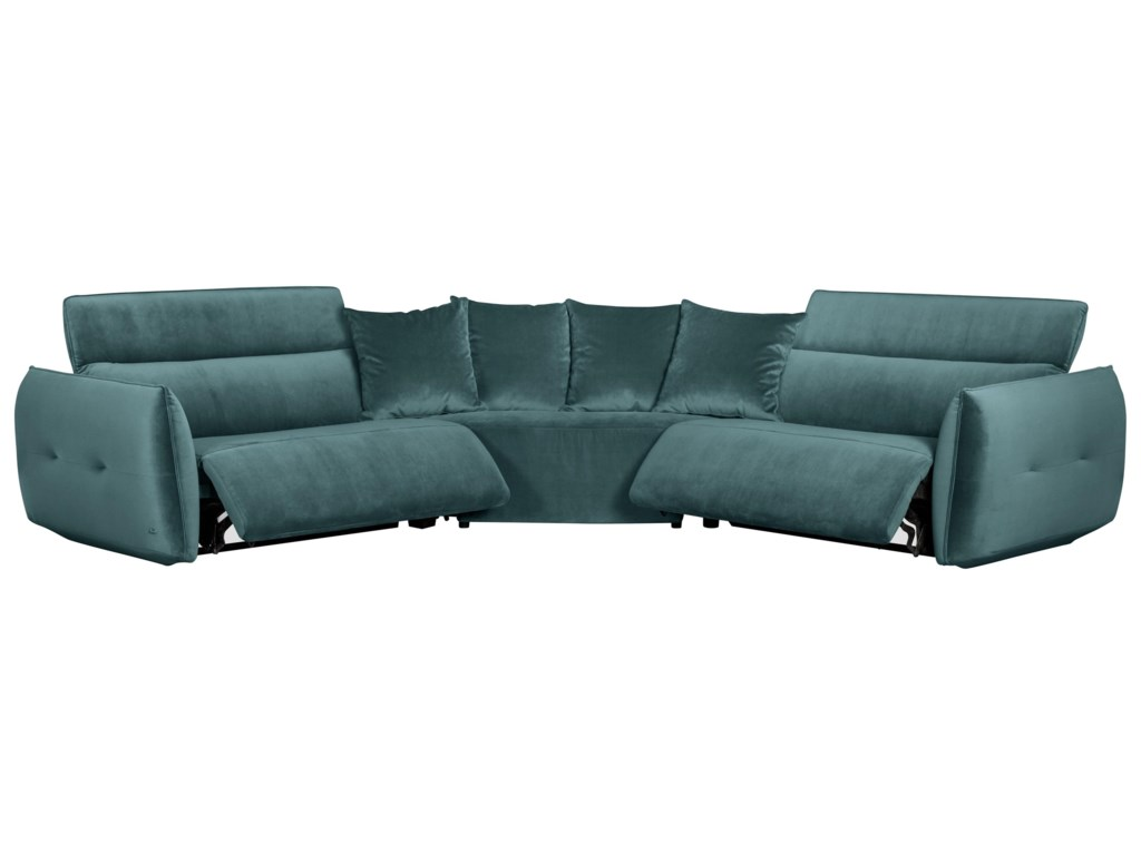 Classic Home 21633 PC Power Reclining Sectional Sofa