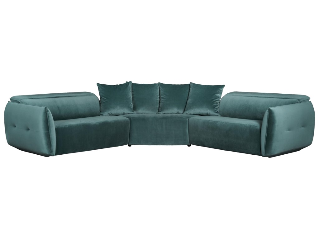 Classic Home 2163Power Recliner Sectional Set
