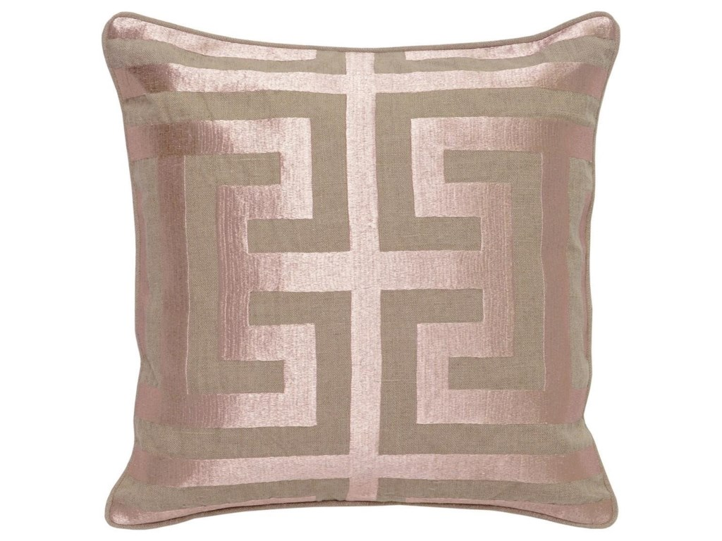 Classic Home Accent PillowsRose Gold Square Accent Pillow