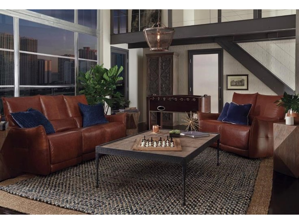 Classic Home AmsterdamPower Reclining Sofa and Recliner Armchair