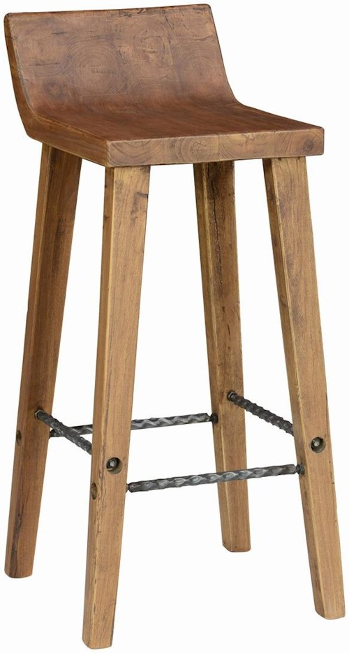 Classic Home Arturo Practical Low Back Bar Stool with Iron Footrest
