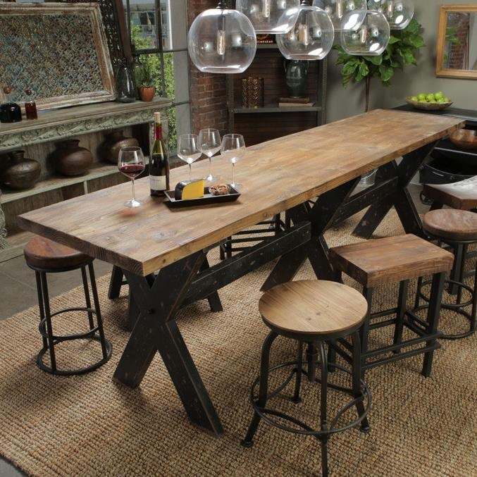 Classic home furniture reclaimed wood Office Furniture Classic Home Auroragathering Table John Schultz Classic Home Aurora 51003008elp Gathering Table With Reclaimed Pine