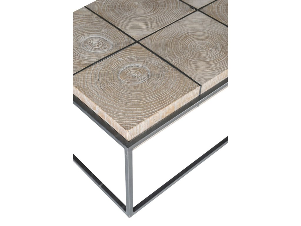 Classic Home Cooper Transitional Rectangular Elm Wood - Cooper end table