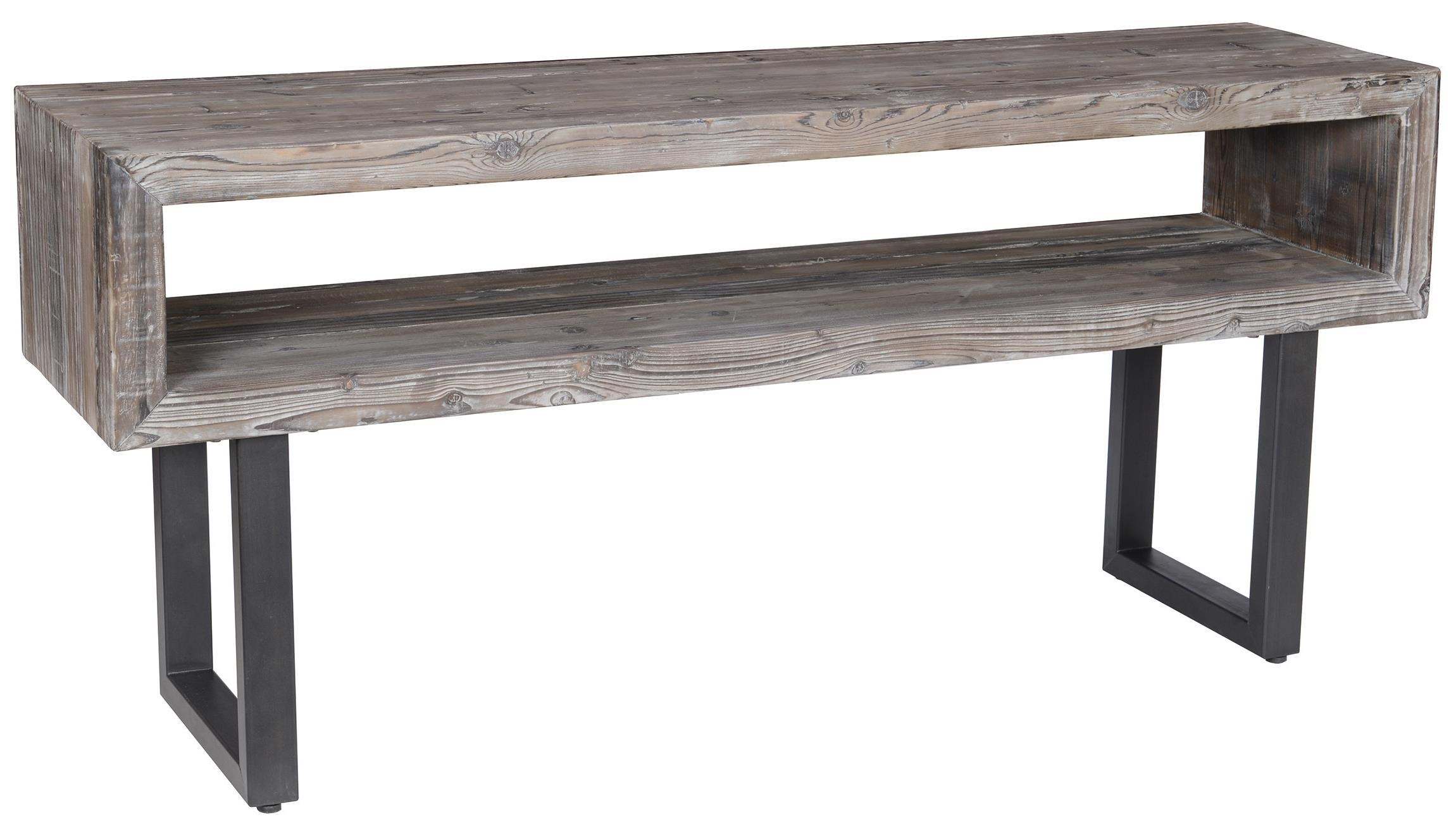 Black console table Half Moon Corsica Console Table With Black Metal Base By Classic Home John Schultz Classic Home Corsica 51030029 Console Table With Black Metal Base