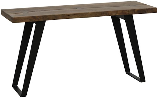 Classic Home Dresden Contemporary Console Table with Rust Proof Metal Base and Acacia Wood Top