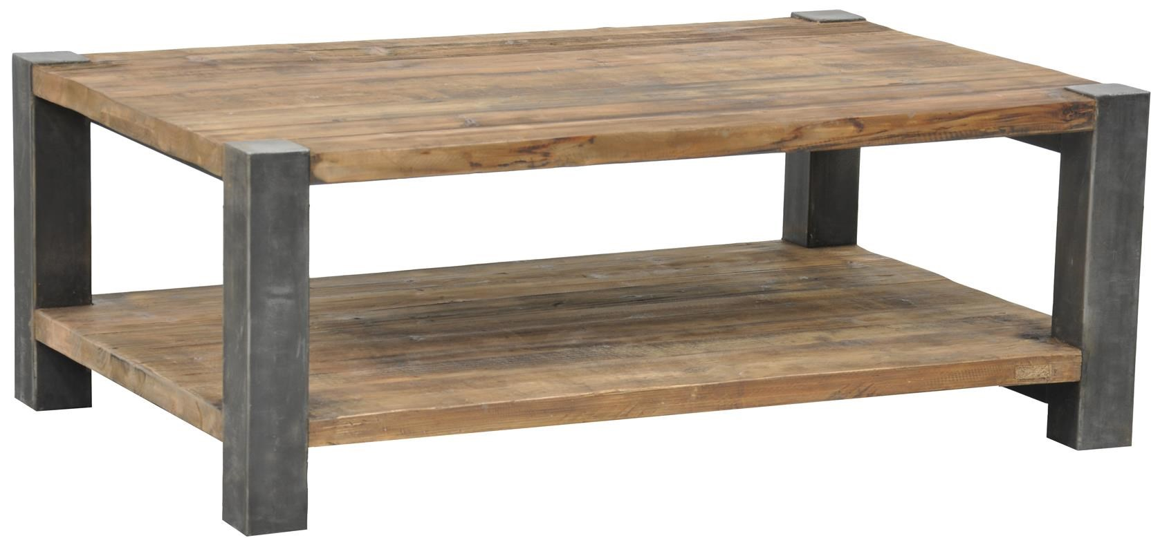 classic home furniture reclaimed wood. Jaden Reclaimed Coffee Table With Iron Base By Classic Home Furniture Wood L