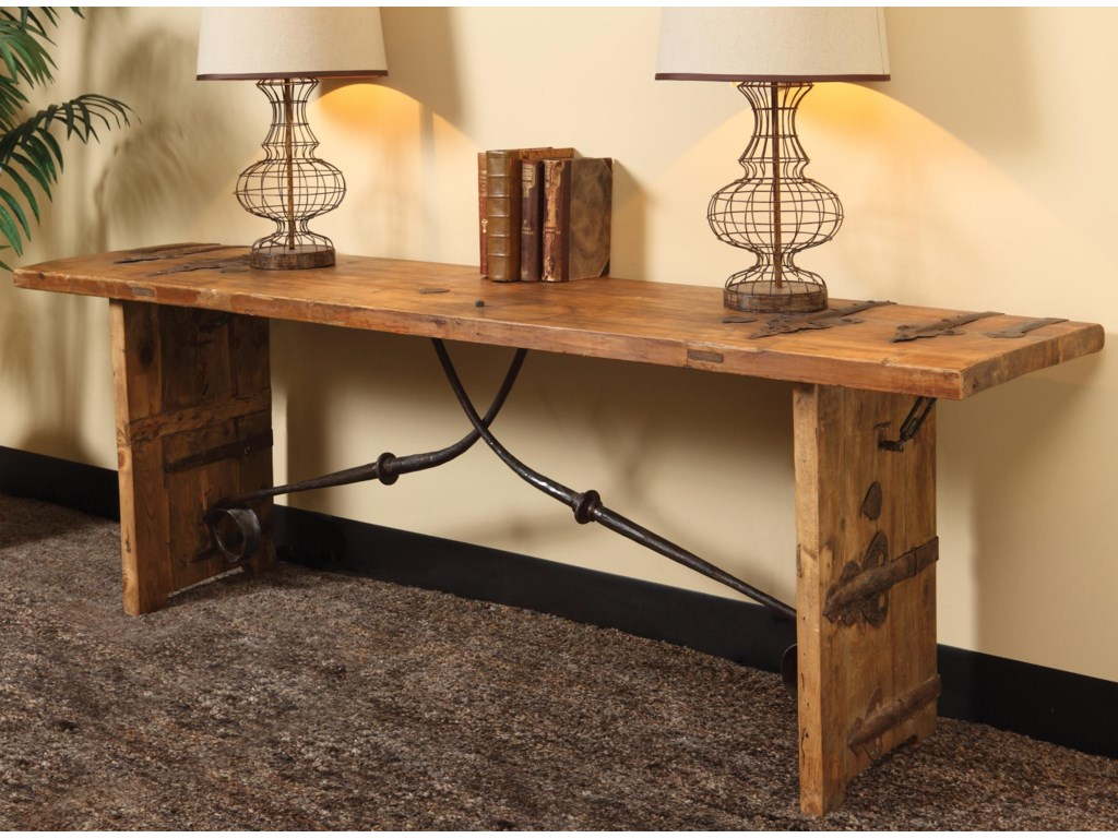 Kendari Rustic Reclaimed Wood Console Table By Clic Home