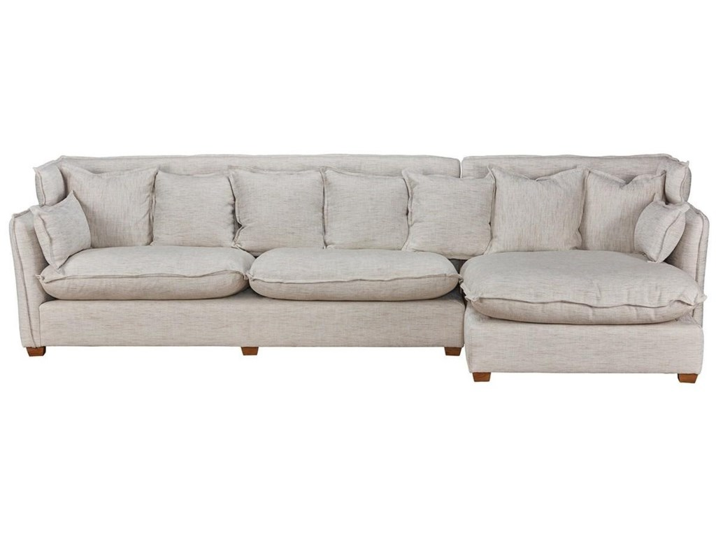 Classic Home LeonaSectional w/RAF Chaise