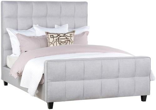 Classic Home Loft Eastern King Panel Bed with Fabric Upholstered Wood Frame