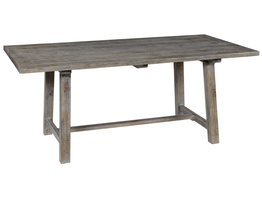 Classic Home Maxwell 51004805 Pine Dining Table with Trestle Base ...