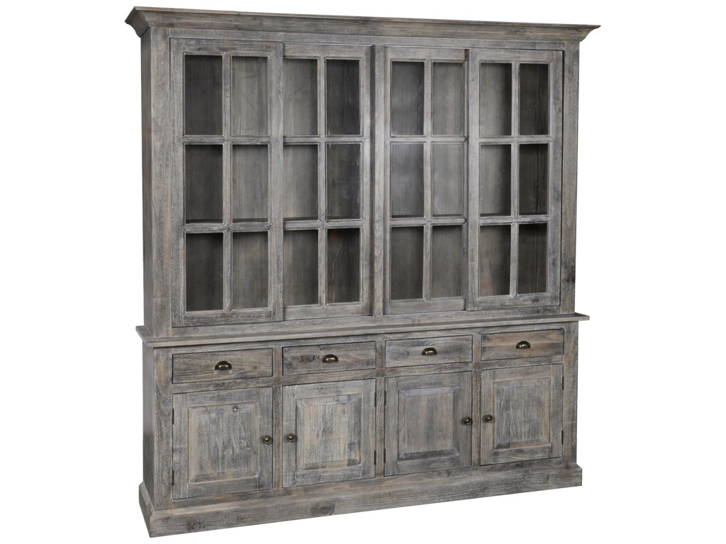 Classic Home Maxwell 52004342 4 Drawer Sliding Door China Cabinet