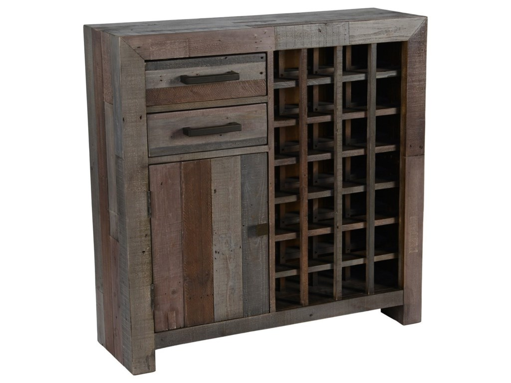 Reclaimed Wood Wine Cabinet Classic Home Omni Storm Transitional Reclaimed Pine Wood Wine