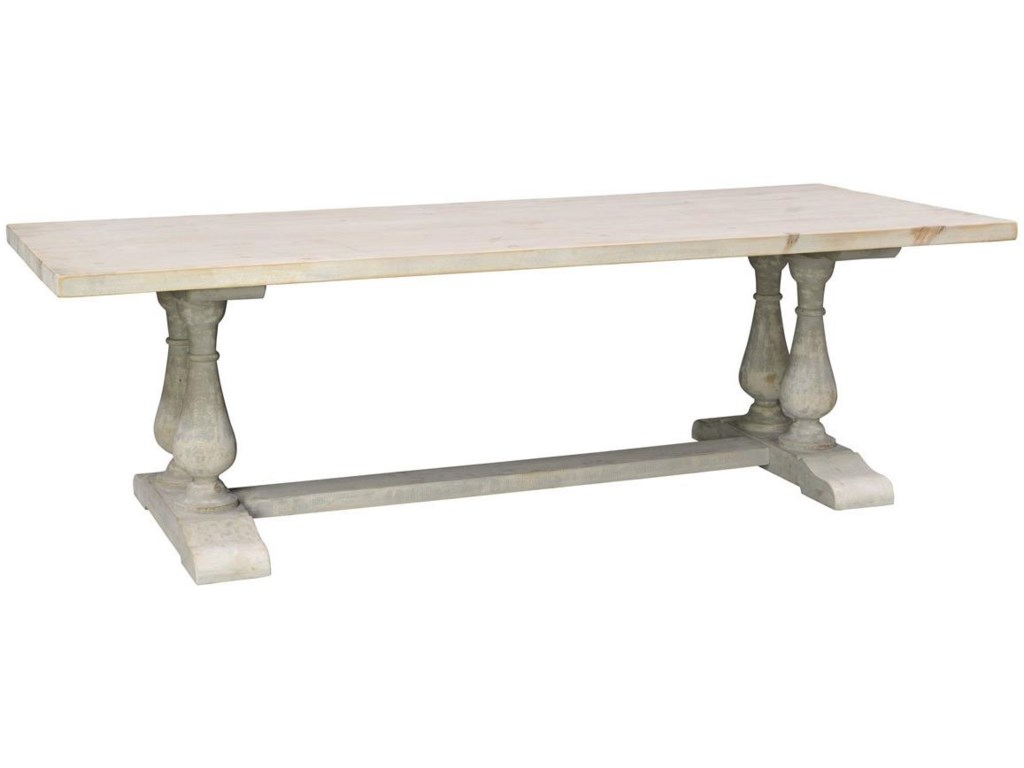 Classic Home Windsor Solid Wood Reclaimed Pine Dining Table ...