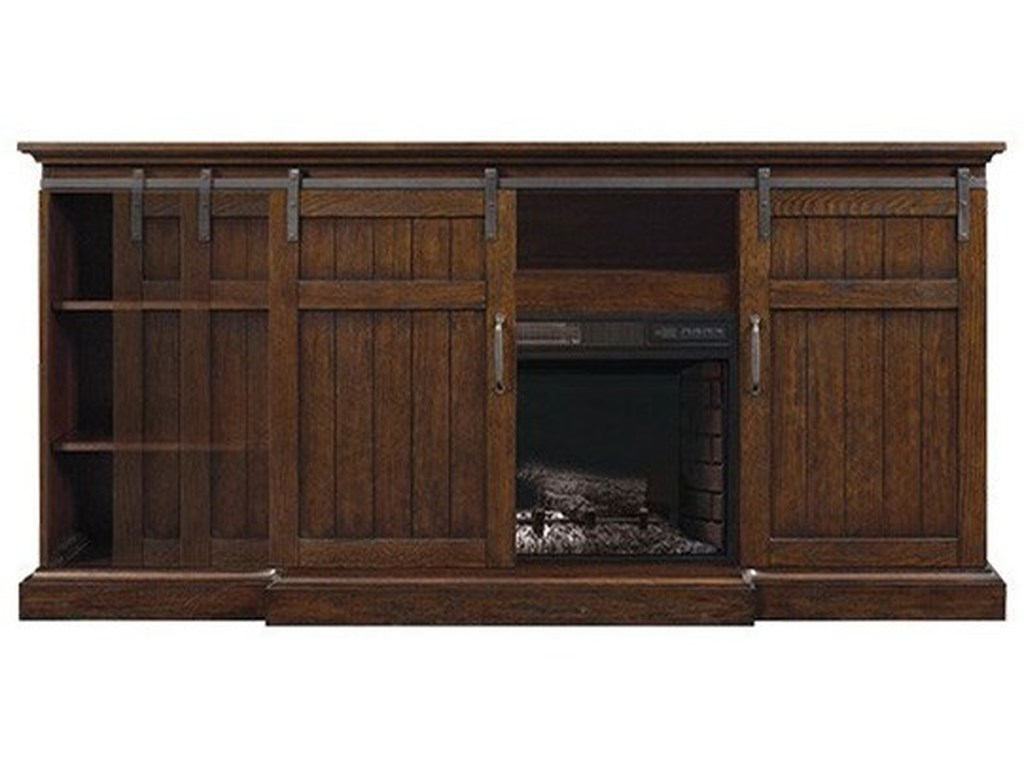 ClassicFlame CabaretBarn Door Fireplace Media Mantel