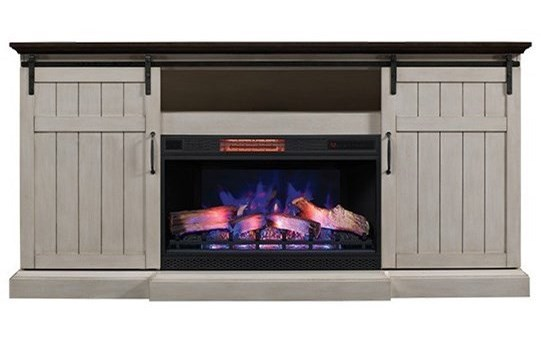 ash barns venting stands compressed decorators home barn gray electric b cooling stand in n with collection heating sliding fireplaces tv media door center fireplace