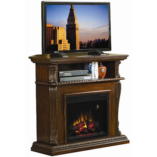 ClassicFlame Corinth  Remote Operated Wall or Corner Electric Fireplace