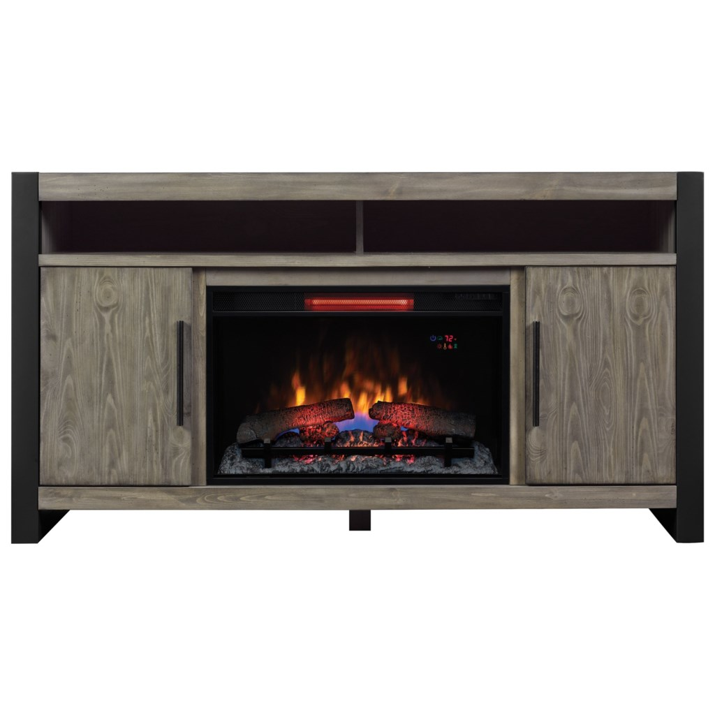 Costa Mesa Media Mantel Tv Stand With Electric Fireplace Insert