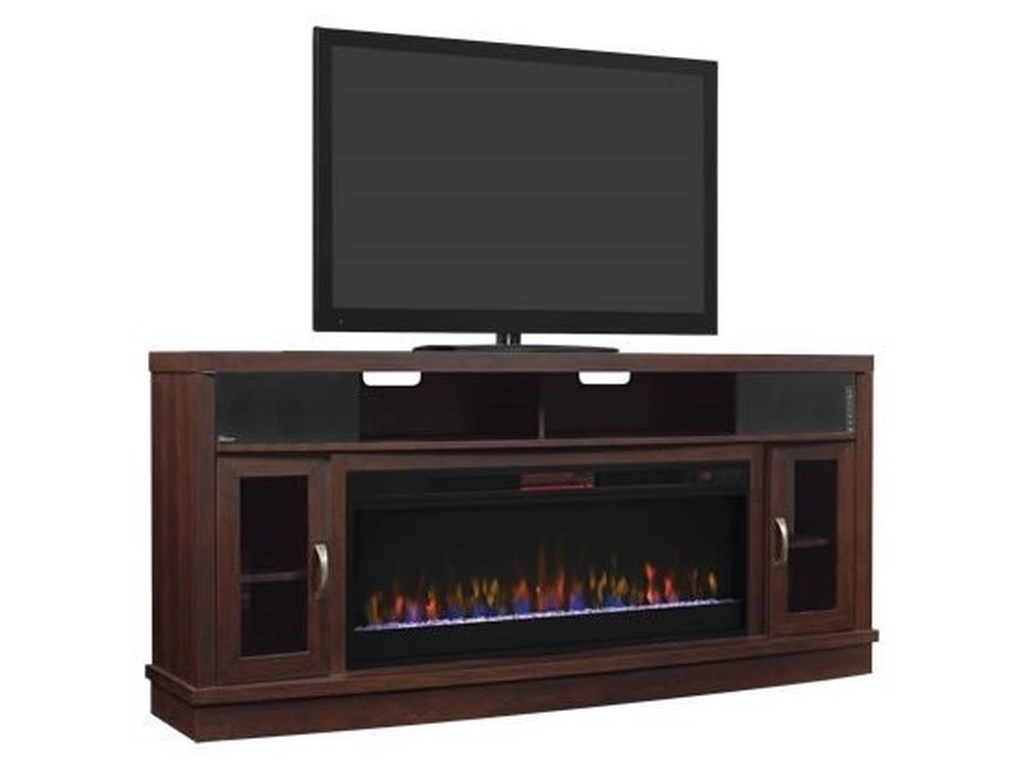 ClassicFlame DeerfieldMedia Mantel Fireplace With Speakers