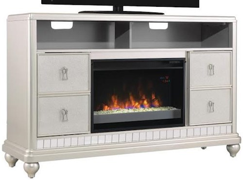 ClassicFlame Diva Metallic Finished TV Stand with 26