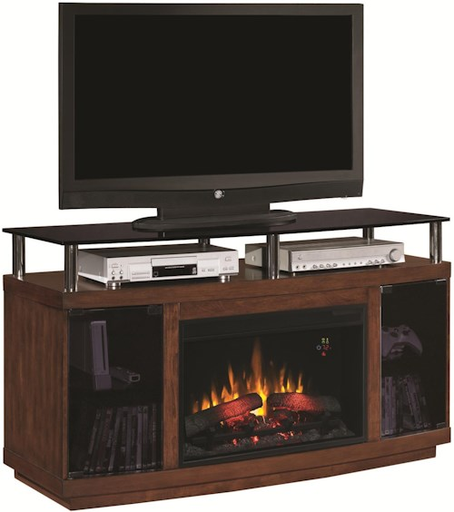ClassicFlame Drew Drew Contemporary Media Cabinet with Electric Fireplace Insert