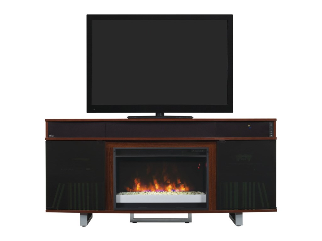 ClassicFlame EnterpriseMedia Mantel Fireplace With Speakers