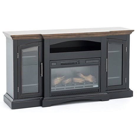 Classicflame Girard Traditional Two Tone Tv Stand With Fireplace