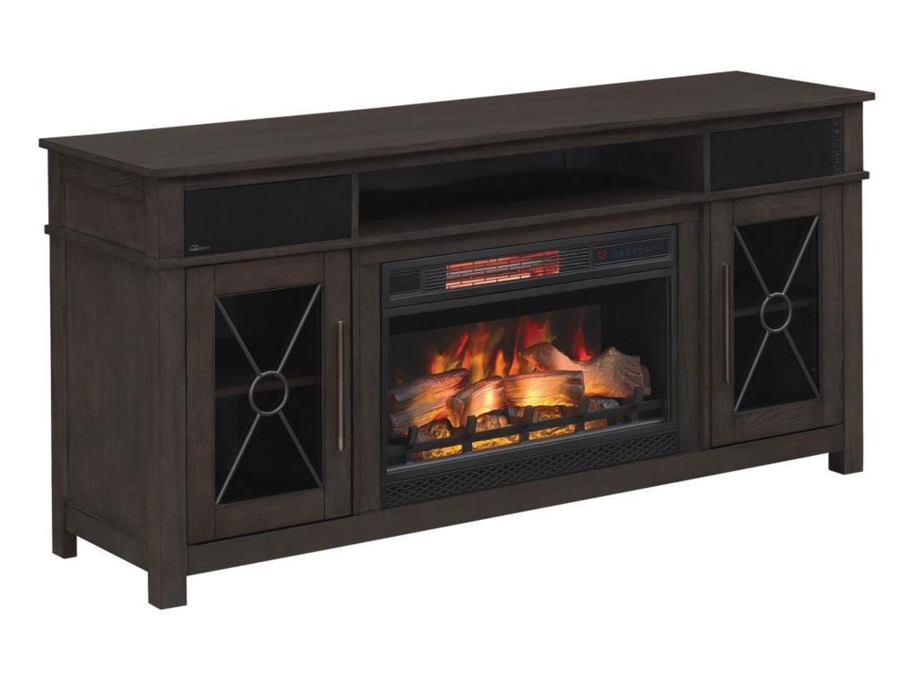 Morris Home HeathrowMedia Mantel Fireplace