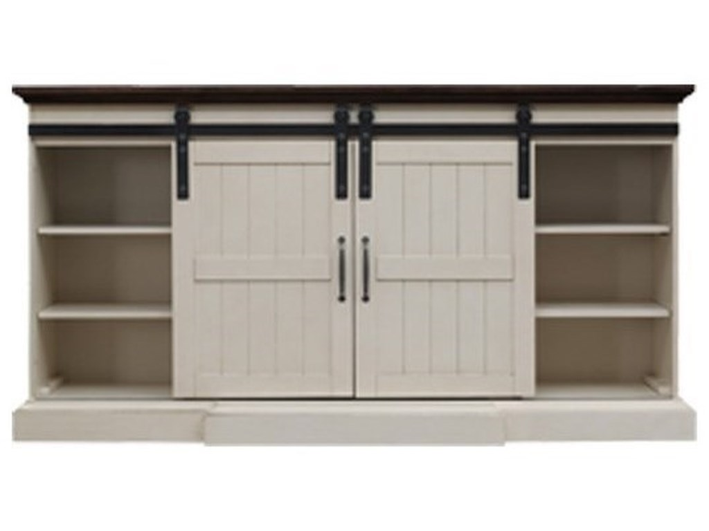 ClassicFlame Hogan CFBarn Door Media Mantel Fireplace