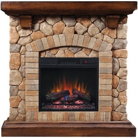 "40"" Wall Mantel and Electric Insert"
