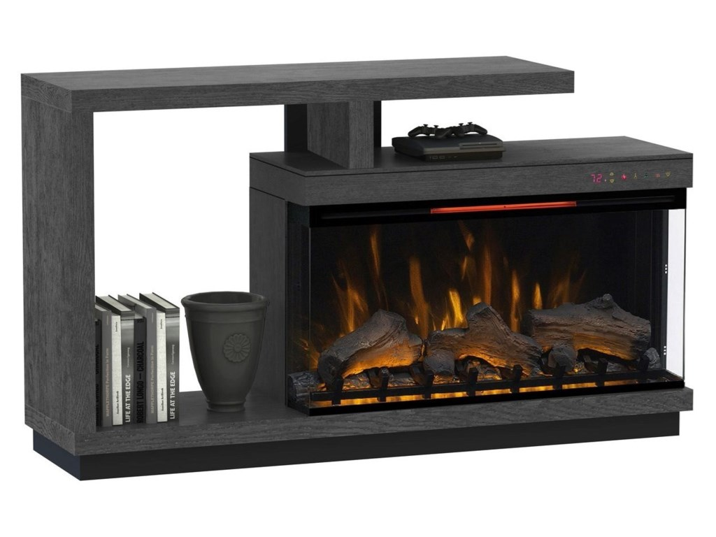 ClassicFlame WrightTV Stand with Electric Fireplace