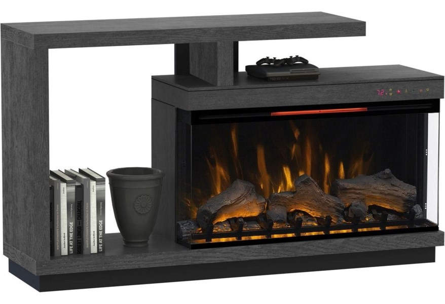 Classicflame Lloyd Contemporary Tv Stand With Electric Fireplace Morris Home Tv Stands