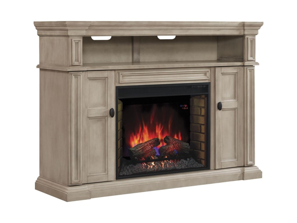 Fireplace insert sold separately.