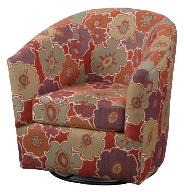 CMI Classic Chair Accents CC2050 Casual Swivel Tub Chair with in ...