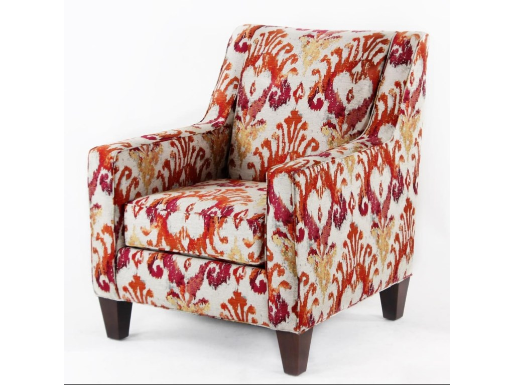 cmi classic chair accents cc2420 casual club chair with track arms