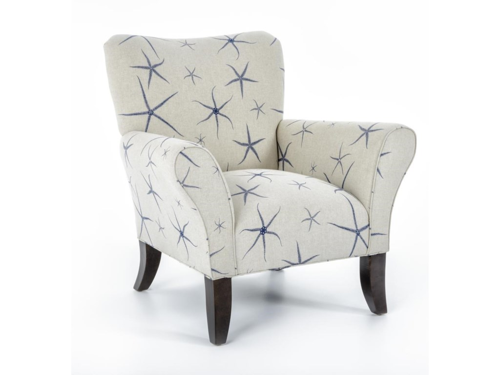 Classic accent chairs - Cmi Classic Chair Accents Curved Leg Accent Chair Baer S Furniture Upholstered Chairs