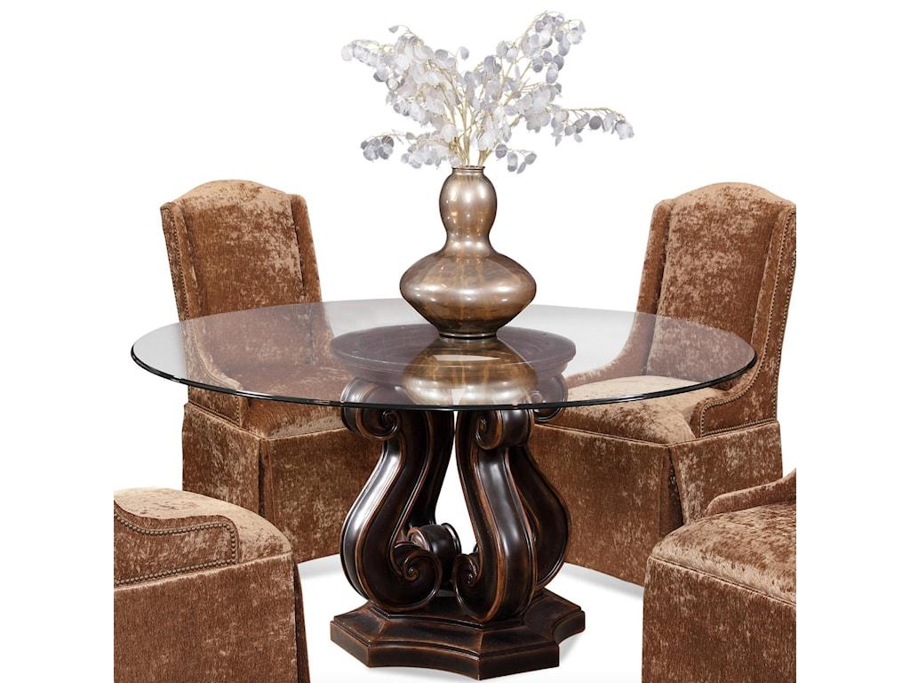 CMI Dining Tudor Glass Top Table