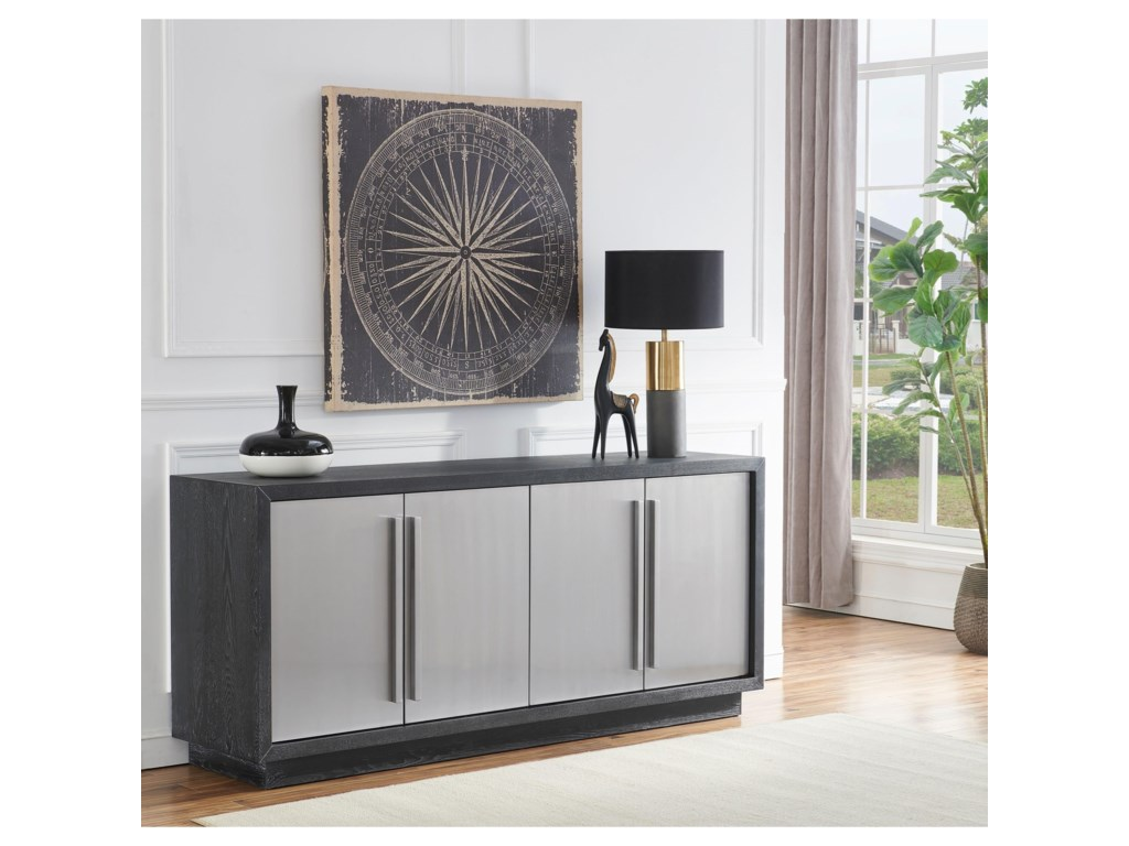 Coast to Coast Imports 402104-Door Media Credenza