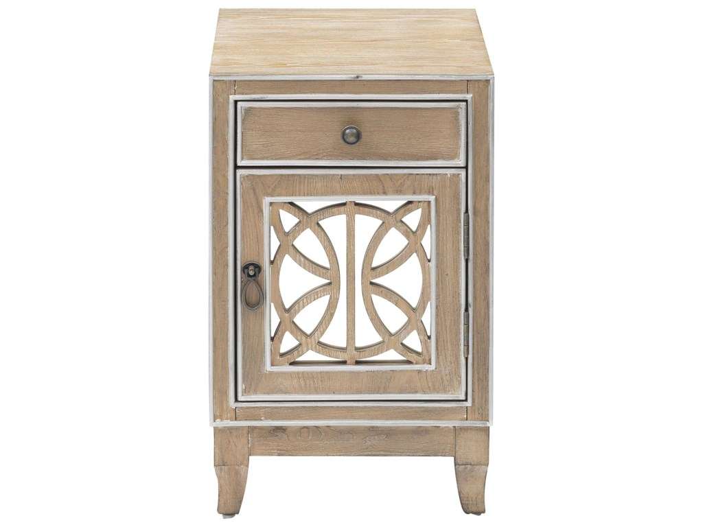 Coast to Coast Imports 402201-Door 1-Drawer Chairside Cabinet