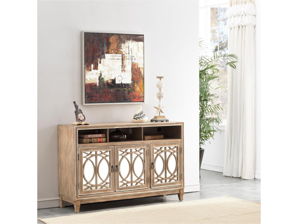 Coast to Coast Imports 402203-Door Media Credenza