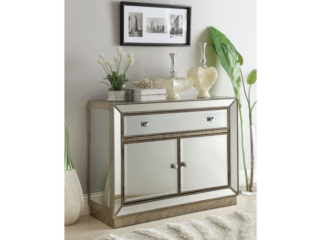 Coast to Coast Imports Accents by Andy SteinOne Drawer Two Door Cabinet