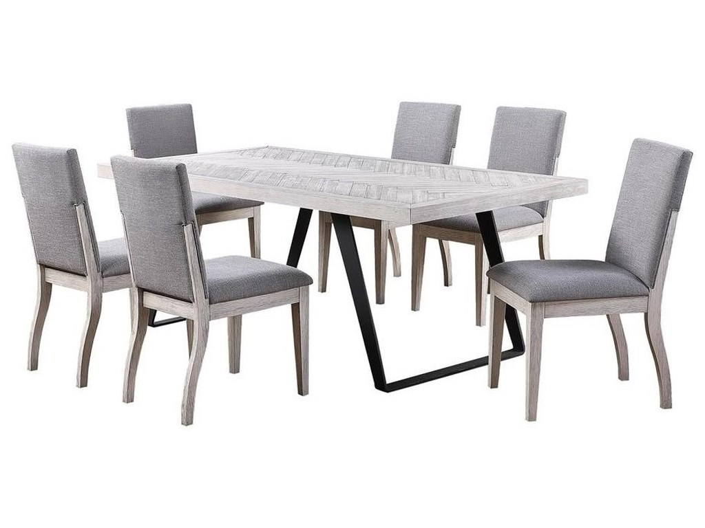 Coast to Coast Imports Aspen Court II7-Piece Table and Chair Set
