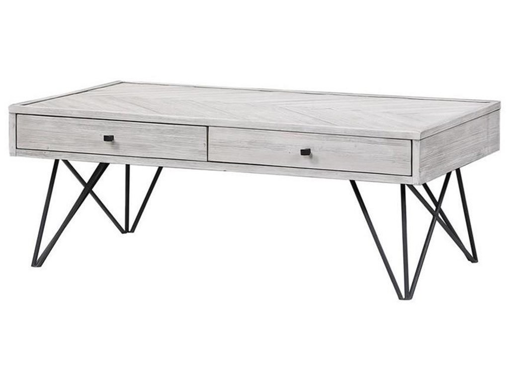 Coast to Coast Imports Aspen Court IITwo Drawer Cocktail Table