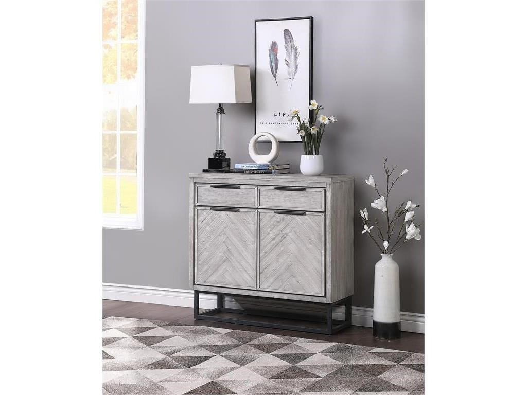 Coast to Coast Imports Aspen Court IITwo Door Two Drawer Cabinet